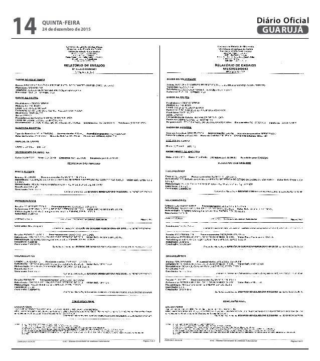 QUINTA-FEIRA 24 de dezembro de 2015 14 GUARUJÁ Diário Oficial