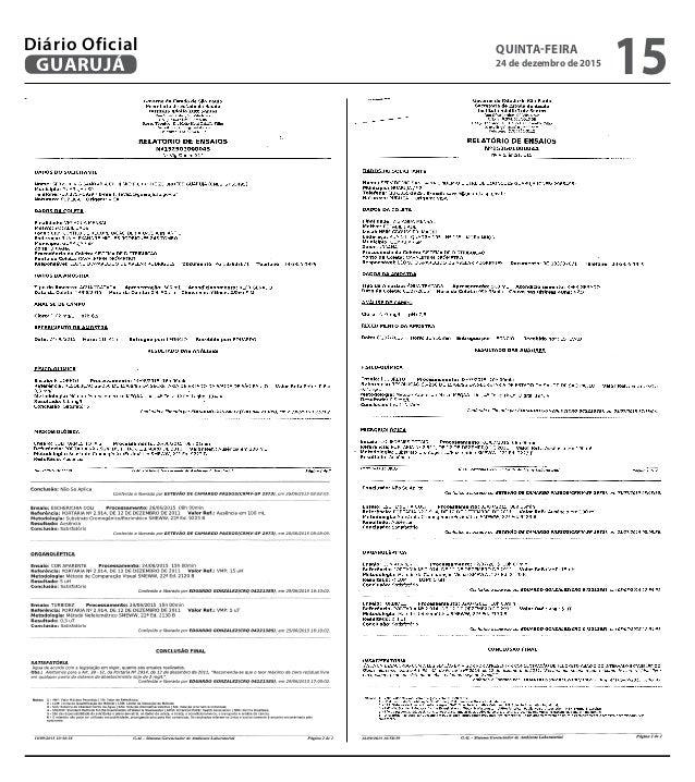 QUINTA-FEIRA 24 de dezembro de 2015 15GUARUJÁ Diário Oficial