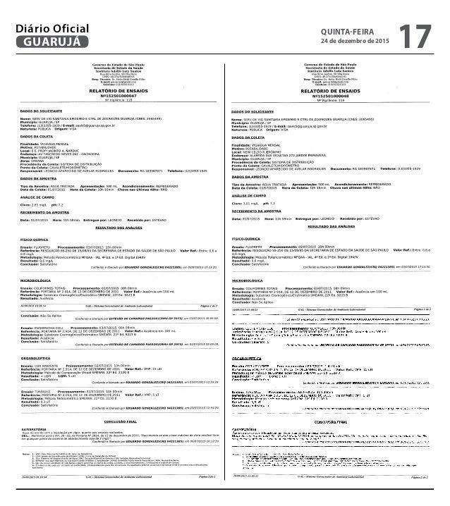 QUINTA-FEIRA 24 de dezembro de 2015 17GUARUJÁ Diário Oficial