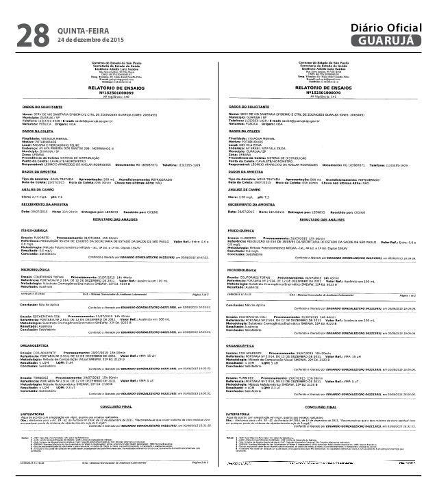 QUINTA-FEIRA 24 de dezembro de 2015 28 GUARUJÁ Diário Oficial