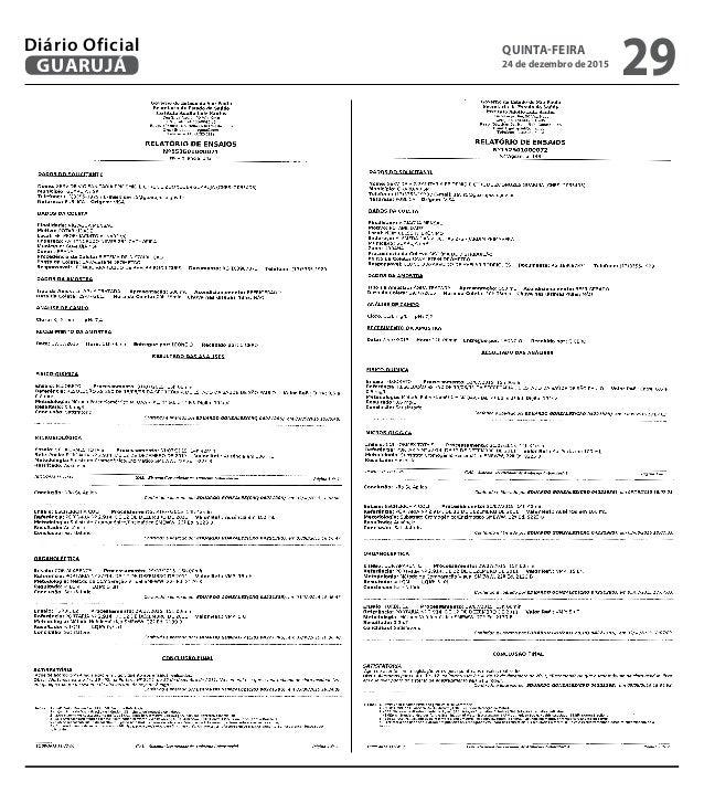 QUINTA-FEIRA 24 de dezembro de 2015 29GUARUJÁ Diário Oficial