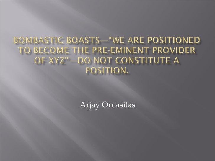 Arjay Orcasitas