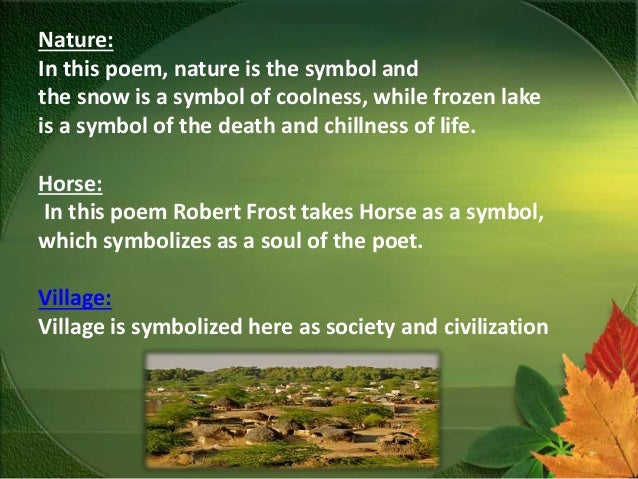 Symbolic Imagery In Robert Frosts Poetry