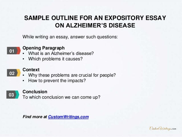 complete guide on how to outline an expository essay on alzheimer s d  3 while writing an essay