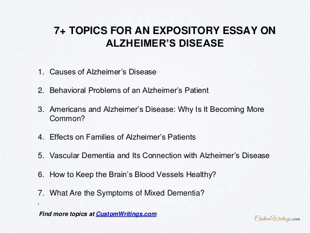 alzheimers thesis statement