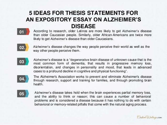 alzheimers thesis statement