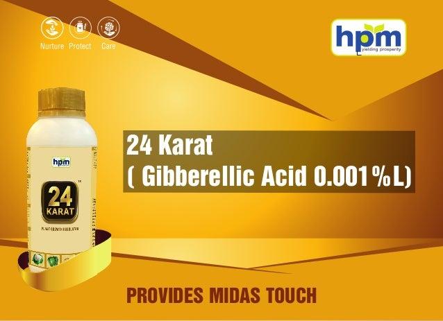 24 Karat ( Gibberellic Acid 0.001%L) PROVIDES MIDAS TOUCH