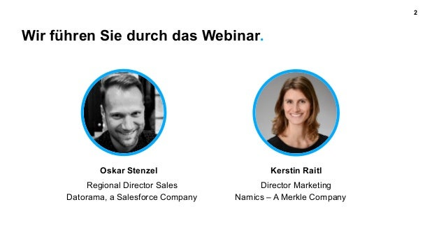Wir führen Sie durch das Webinar. 2 Regional Director Sales Datorama, a Salesforce Company Oskar Stenzel Director Marketin...