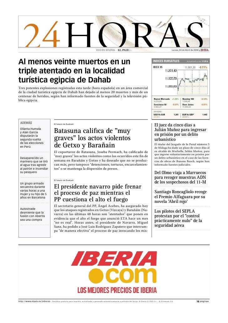 EDICIÓN GENERAL -                                                                Lunes, 24 de Abril de 2006        20:55 h...