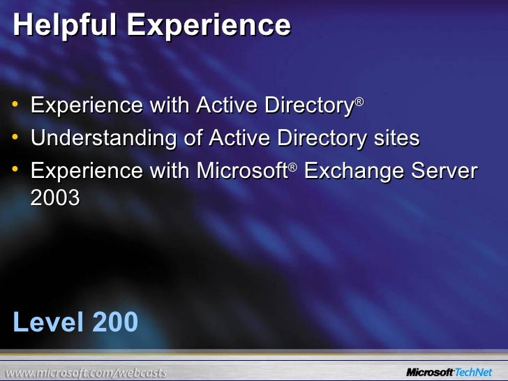 24 Hours Of Exchange Server 2007 (Part 5 Of 24) slideshare - 웹