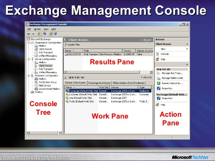 24 hours of exchange server 2007 part 6 of 24 - Exchange management console ...
