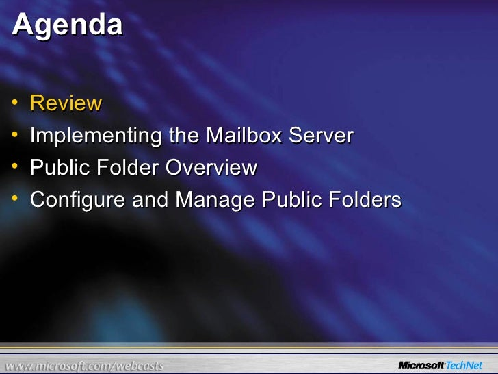 24 Hours Of Exchange Server 2007 Part 7 Of 24