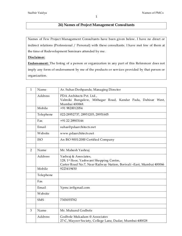 24 Names Of Pmcs In Mumbai