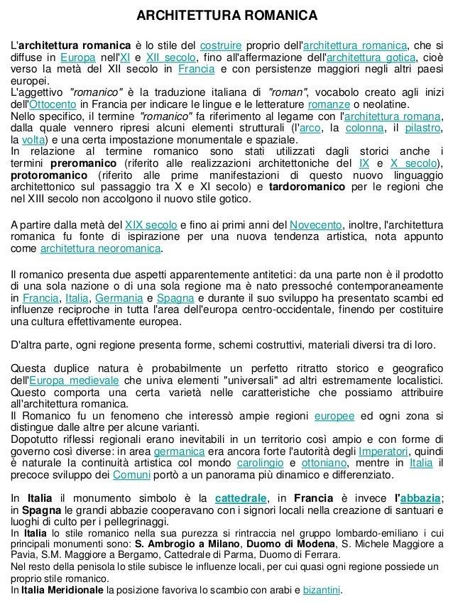ARCHITETTURA ROMANICALarchitettura romanica è lo stile del costruire proprio dellarchitettura romanica, che sidiffuse in E...