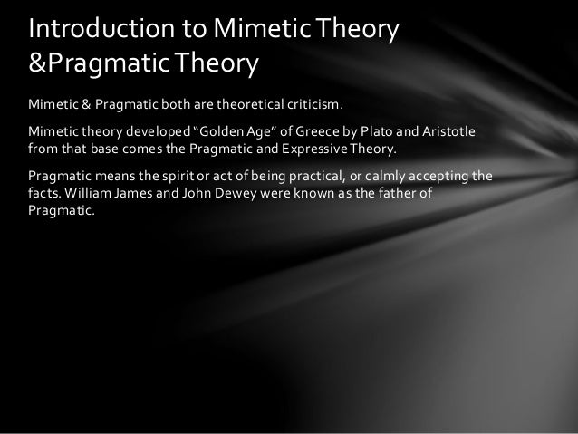 Mimetic theory of literature pdf