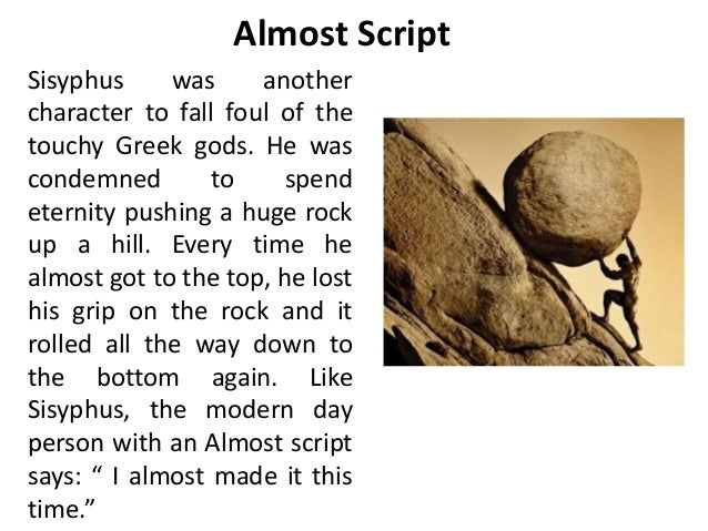 an analysis of the punishment of sisyphus by god The myth of sisyphus class this punishment was cruel, according to the god meaghan does an excellent job on starting to analysis camus.