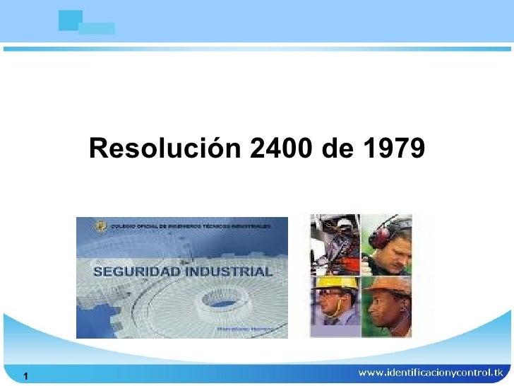 Resolución 2400 de 19791