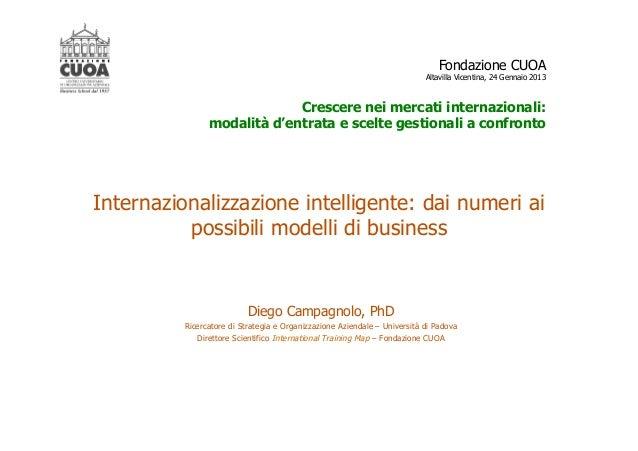 Fondazione CUOA                                                                           Altavilla Vicentina, 24 Gennaio ...