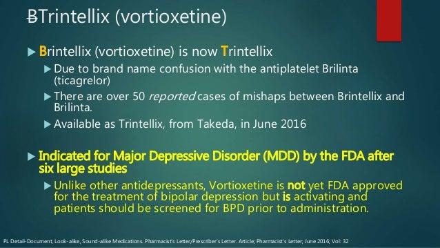 trintellix (vortioxetine)
