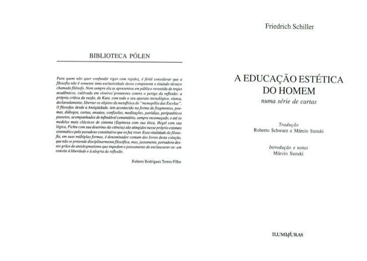 A Educação Estética do Homem, Friedrich Schiller