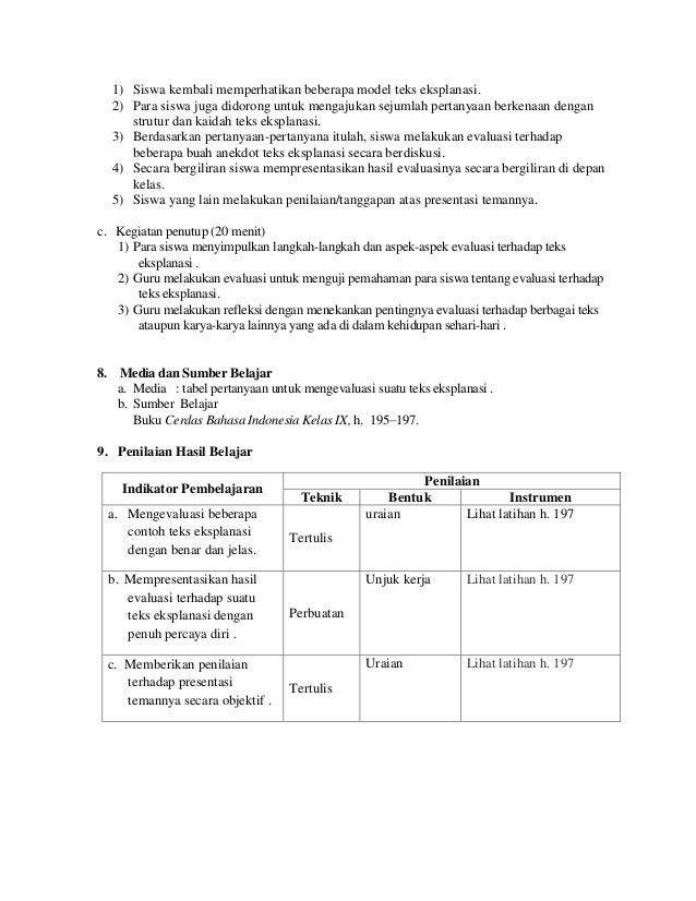 240762342 Rpp Cerdas Xi Kelas Xi Sma Bahasa Indonesia
