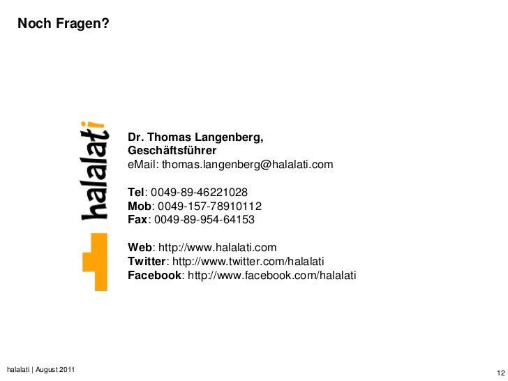 Noch Fragen?                         Dr. Thomas Langenberg,                         Geschäftsführer                       ...