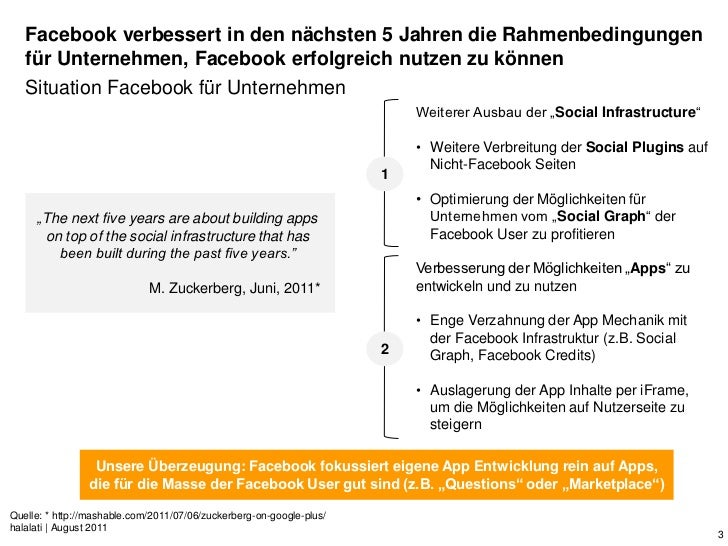 Facebook verbessert in den nächsten 5 Jahren die Rahmenbedingungen   für Unternehmen, Facebook erfolgreich nutzen zu könne...