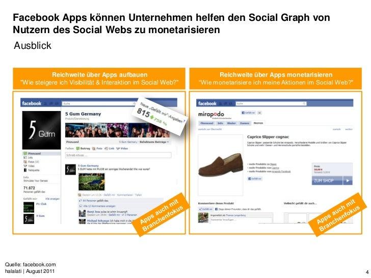 Facebook Apps können Unternehmen helfen den Social Graph von   Nutzern des Social Webs zu monetarisieren   Ausblick       ...