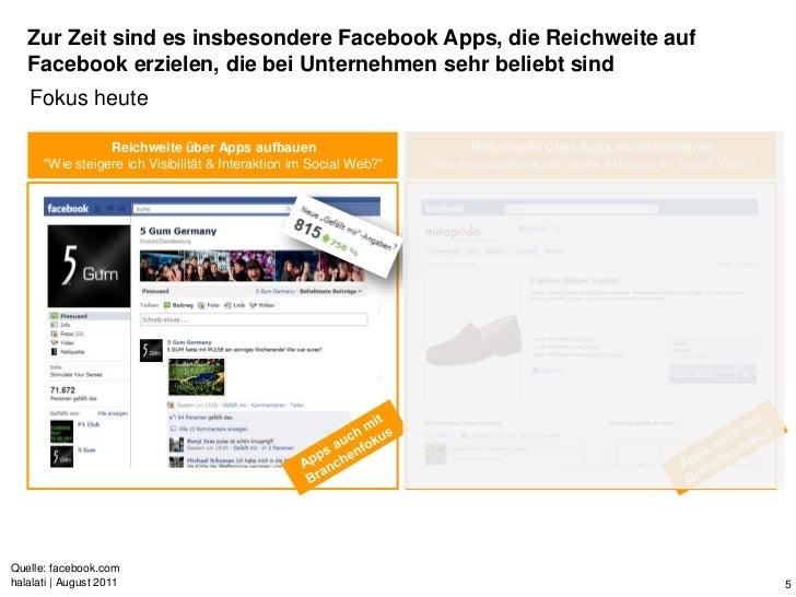 Zur Zeit sind es insbesondere Facebook Apps, die Reichweite auf   Facebook erzielen, die bei Unternehmen sehr beliebt sind...