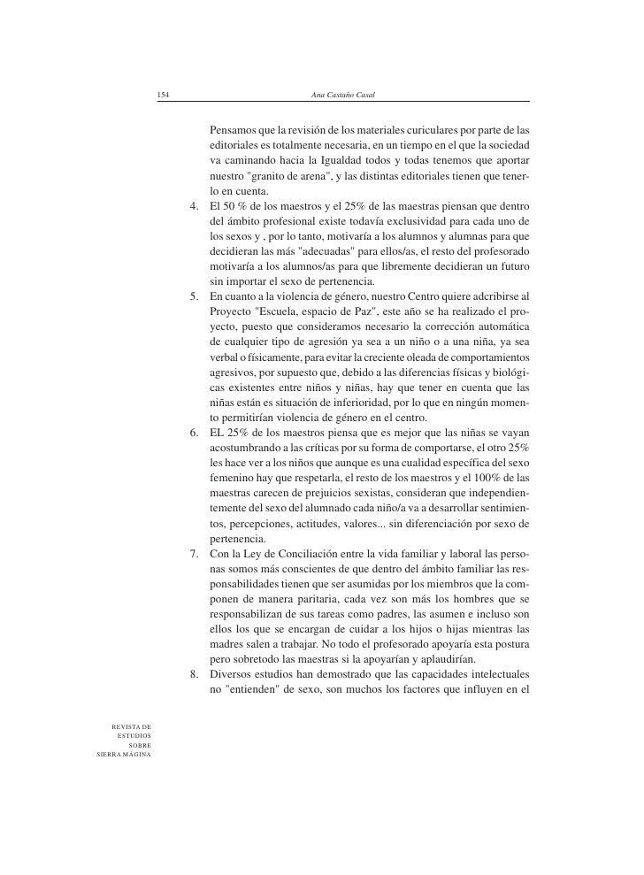 154                               Ana Castaño Casal                                Pensamos que la revisión de los materia...
