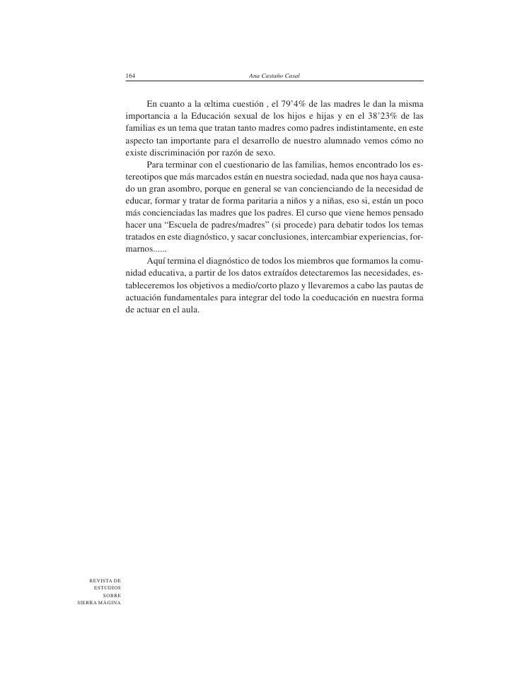 164                               Ana Castaño Casal                           En cuanto a la œltima cuestión , el 79'4% de...