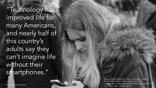 """""""Technology has improved life for many Americans, and nearly half of this country's adults say they can't imagine life wit..."""