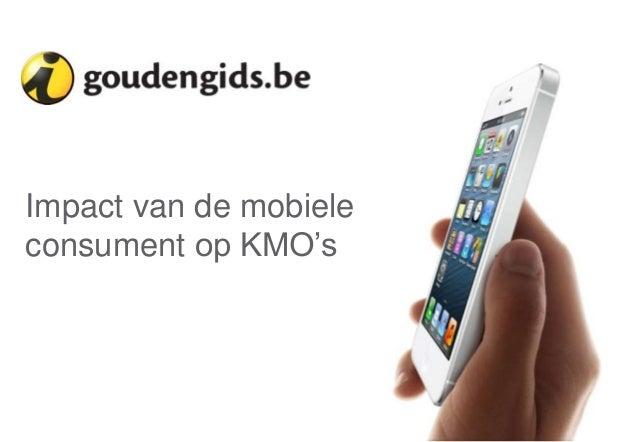 """Impact van de mobiele consument op KMO""""s  1"""