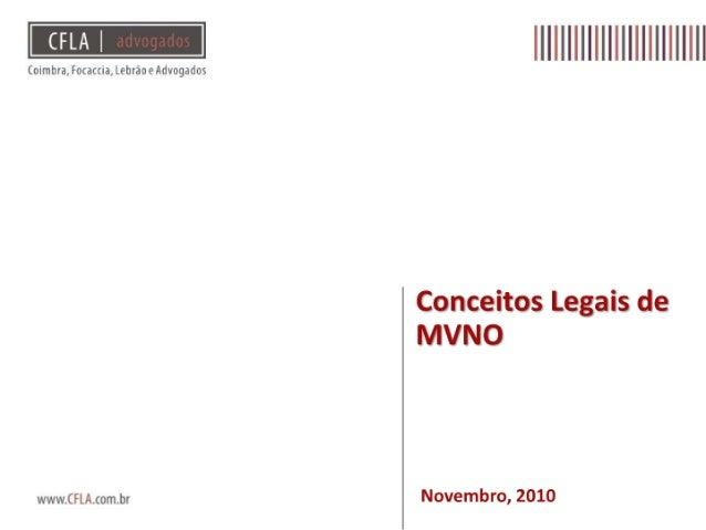 Questões Legais sobre MVNOs