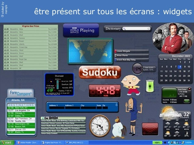 slidedby nereÿs © être présent sur tous les écrans : widgets