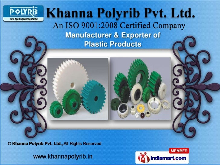 Manufacturer & Exporter of    Plastic Products