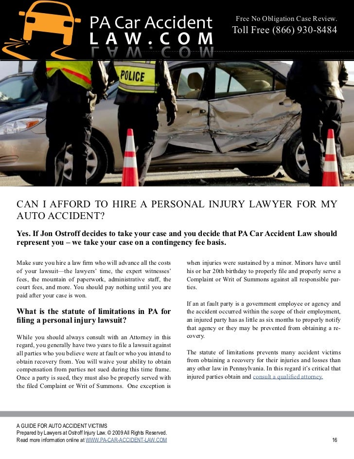 Pa Car Accident Law