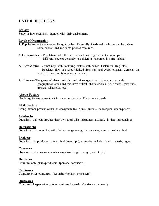 Ecology worksheets for high school | movedar.
