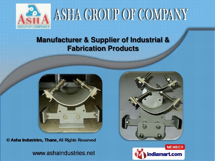 Manufacturer & Supplier of Industrial &        Fabrication Products