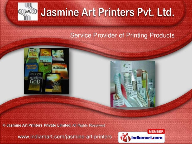 Service Provider of Printing Products