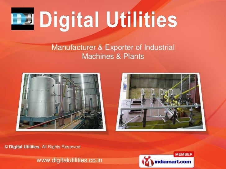 Manufacturer & Exporter of Industrial                                Machines & Plants© Digital Utilities, All Rights Rese...