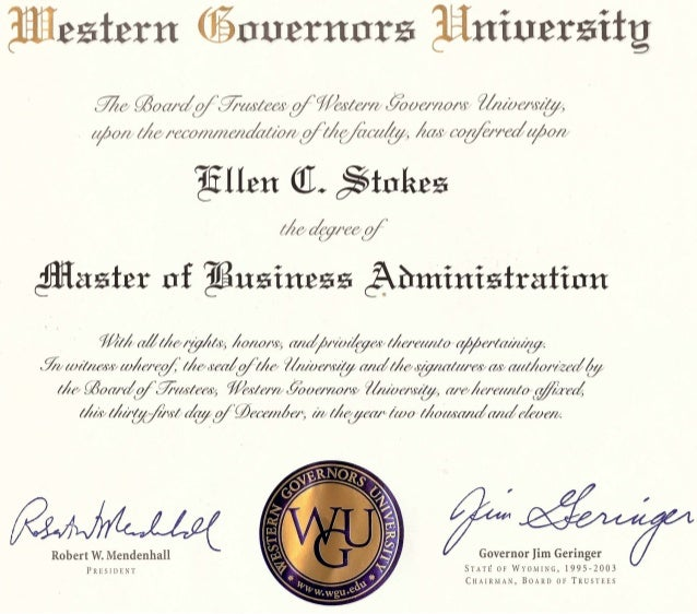 Mba papers from western governors university
