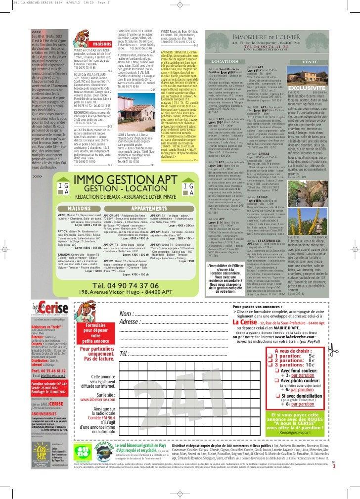 241 LA CERISE:CERISE 240+                                                          8/05/12           18:20           Page ...