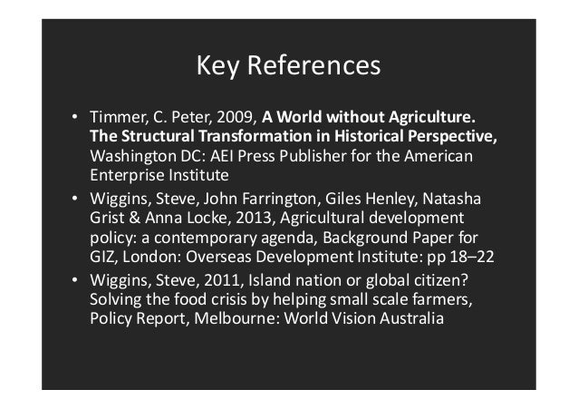 Steve Wiggins: Rural Transformation and Transitions
