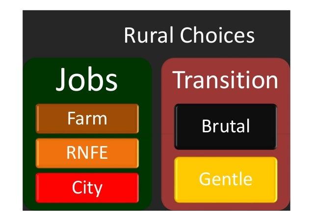 Rural Choices  Jobs  Farm  RNFE  City  Transition  Brutal  Gentle