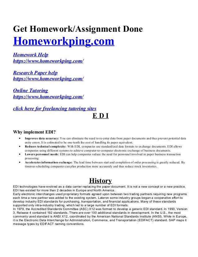 edi homework