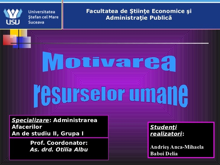 Facultatea de Ştiinţe Economice şi                              Administraţie PublicăSpecializare: AdministrareaAfacerilor...