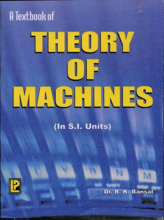 Theory Of Machines Book