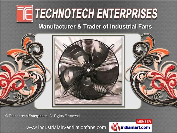 Manufacturer & Trader of Industrial Fans
