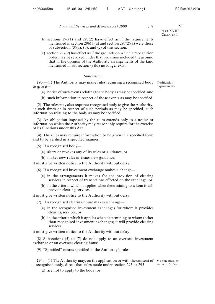 Financial Services and Markets Act 2000